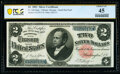 Fr. 246 $2 1891 Silver Certificate PCGS Banknote Choice XF 45