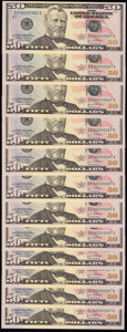 Small Size:Federal Reserve Notes, Serial Number 587 BEP Premium Federal Reserve Set Fr. 2128-A-L $50 2004. Very Choice Crisp Uncirculated or Better.. ...
