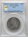 1839-O 50C GR-1, R.1, XF45 PCGS. Repunched Mintmark. PCGS Population: (2/9). NGC Census: (0/0). XF45. Mintage 178,976. &...