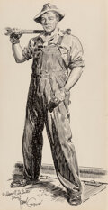 Works on Paper, Frank Godwin (American, 1889-1959). Workman. Ink and pencil on paper. 22-1/2 x 13-1/4 inches (57.2 x 33.7 cm) (sheet). S...