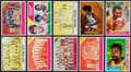 Basketball Cards:Lots, 1974 & 75 Topps Basketball Progressive Proof Collection (10) With Wilt Chamberlain. ...