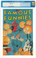 Golden Age (1938-1955):Miscellaneous, Famous Funnies #135 (Eastern Color, 1945) CGC NM- 9.2 Off-white pages....