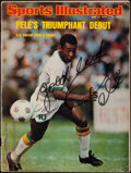 Autographs:Others, 1975 Pele Signed Sports Illustrated. ...
