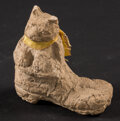 Miscellaneous:Other, Stationary Cat in Man's Work Boot. ...