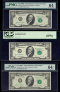 Small Size:Federal Reserve Notes, Fr. 2020-D $10 1969B Federal Reserve Note PMG Graded Choice Uncirculated 64 and Fr. 2021-B; K* $10 1969C Federal Reserve Notes... (Total: 3 notes)
