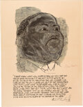 Autographs:Artists, Martin Luther King, Jr.: Poster Signed by Ben Shahn....