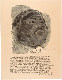 Martin Luther King, Jr.: Poster Signed by Ben Shahn