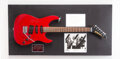 Musical Instruments:Electric Guitars, Eddie Van Halen Twice-Signed Kramer XL VI With Additional Signed Items.. ...