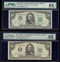 Small Size:Federal Reserve Notes, Fr. 2108-F $50 1950A Federal Reserve Note. PMG Choice Uncirculated 64 EPQ;. Fr. 2109-B $50 1950B Federal Reserve Note. PMG... (Total: 2 notes)