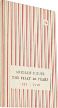 Books:Non-fiction, August Derleth: Arkham House: the First 20 Years 1939-1959,History and Bibliography. (Sauk City: Arkham House, 1959), f...