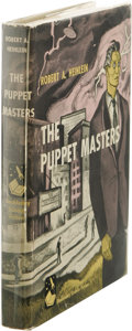 Books:First Editions, Robert A. Heinlein: The Puppet Masters. (Garden City, NewYork: Doubleday, 1951), first edition, 219 pages, beige cloth ...