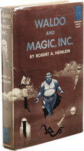 Books:First Editions, Robert A. Heinlein: Waldo and Magic, Inc.. (Garden City, NewYork: Doubleday, 1950), first edition, 219 pages, blue clot...