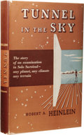 "Books:First Editions, Robert A. Heinlein: Tunnel in the Sky. (New York: Scribner'sSons, 1955), first edition, first printing (""A"" on title pa..."