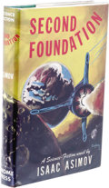 Books:First Editions, Isaac Asimov: Second Foundation. (New York: Gnome Press, 1953), first edition, second state, 210 pages, jacket design by...