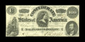 Confederate Notes:1862 Issues, T49 $100 1862. This $100 is a problem-free Very Fine with brightand healthy paper....