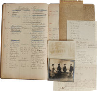 """1905-1912 Ellis Island Harbor Mission """"Einwanders-Freund"""" Archive Including a Ledger of German Immigrants and..."""