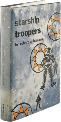 Robert A. Heinlein: Starship Troopers. (New York: G.P. Putnam's Sons, 1959), first edition, 309 pages, blue cloth with s...