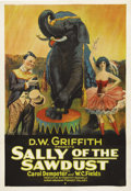 "Movie Posters:Comedy, Sally of the Sawdust (Paramount, 1925). One Sheet (27"" X 41""). Legendary filmmaker D.W. Griffith's silent comedy was the fir..."