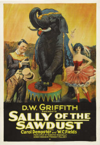 "Sally of the Sawdust (Paramount, 1925). One Sheet (27"" X 41""). Legendary filmmaker D.W. Griffith's silent come..."