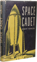 Books:First Editions, Robert A. Heinlein: Space Cadet with Andre Norton'sBookplate. (New York: Scribner's Sons, 1948), first edition, fir...