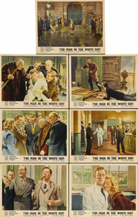 "The Man in the White Suit (Ealing, 1951). British Lobby Cards (7) (11"" X 14""). In post-WWII Britain, Ealing St..."