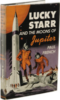 Books:First Editions, Paul French [Isaac Asimov]: Lucky Starr and the Moons ofJupiter. (New York: Doubleday & Company, Inc., 1957), firstedi...