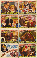 """Movie Posters:Comedy, Made on Broadway (MGM, 1933). Lobby Card Set of 8 (11"""" X 14""""). Robert Montgomery, Sally Eilers, and Madge Evans star in this... (Total: 7 Item)"""