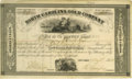 """Miscellaneous:Ephemera, North Carolina Gold Company Stock Certificate. Partially printeddocument, two pages, 10.5"""" x 6.25"""", New York, May 2, 1854. ..."""