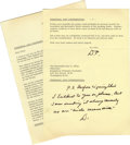 Autographs:U.S. Presidents, Eisenhower Archive. In 1965, after the Republican Party suffered its worst presidential defeat since 1936, Ray C. Bliss was ... (Total: 10 items)