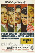 "Movie Posters:Crime, Ocean's 11 (Warner Brothers, 1960). Australian One Sheet (27"" X 40""). This film is a classic, depicting the swaggering ""cool..."