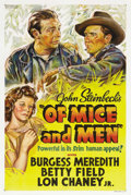 "Movie Posters:Drama, Of Mice and Men (United Artists, 1939). One Sheet (27"" X 41""). Thefilm adaptation of John Steinbeck's first huge success as..."