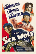 "Movie Posters:Adventure, The Sea Wolf (Warner Brothers, 1941). One Sheet (27"" X 41""). Basedon Jack London's novel and directed by Michael Curtiz, th..."