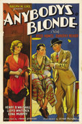 "Movie Posters:Drama, Anybody's Blonde (Mayfair Pictures, 1931). One Sheet (27"" X 41"").Dorothy Revier was a silent screen vamp who was best known..."