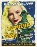 """Movie Posters:Film Noir, This Gun for Hire (Paramount, 1942). Post-War Belgian (14.25"""" X 18.25""""). Very loosely based on Graham Greene's novel publish..."""