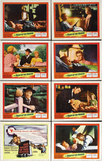 "The Night of the Hunter (United Artists, 1955). Lobby Card Set of 8 (11"" X 14""). Actor Charles Laughton took h..."