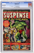 Golden Age (1938-1955):Horror, Suspense #13 (Atlas, 1952) CGC VG 4.0 Off-white to white pages....
