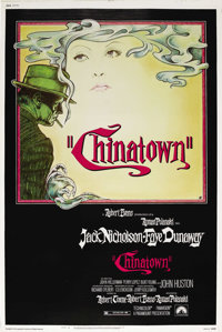 "Chinatown (Paramount, 1974). Poster (40"" X 60""). ""Forget it, Jake. It's Chinatown."" Roman Polanski's..."