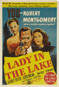 """Movie Posters:Film Noir, Lady in the Lake (MGM, 1947). Australian One Sheet (27"""" X 40""""). Robert Montgomery directs and stars in this famous film no..."""