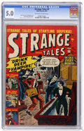 Golden Age (1938-1955):Horror, Strange Tales #9 (Marvel, 1952) CGC VG/FN 5.0 Off-white to white pages....