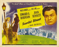 """Scarlet Street (Universal, 1945). Half Sheet (22"""" X 28""""). Fritz Lang directed this film noir about an older ma..."""