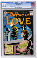 Silver Age (1956-1969):Romance, Falling in Love #24 (Arleigh publishing company, 1959) CGC VG/FN5.0 Off-white pages....