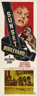 "Sunset Boulevard (Paramount, 1950). Insert (14"" X 36""). ""All right, Mr. DeMille, I'm ready for my close-u..."