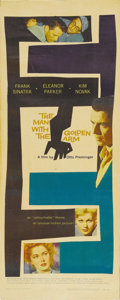 """Movie Posters:Drama, The Man With the Golden Arm (United Artists, 1955). Insert (14"""" X36"""") Frank Sinatra asked studio heads for the role that be..."""