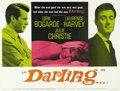 "Movie Posters:Drama, Darling (Embassy, 1965). British Quad (30"" X 40""). Julie Christiewon a Best Actress Oscar for her very human portrayal of a..."