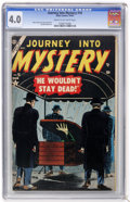 Golden Age (1938-1955):Horror, Journey Into Mystery #18 (Marvel, 1954) CGC VG 4.0 Cream tooff-white pages....
