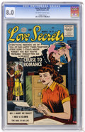 Silver Age (1956-1969):Romance, Love Secrets #51 (Quality, 1956) CGC VF 8.0 Off-white to white pages....