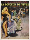 "Movie Posters:Foreign, La Dolce Vita (Cineriz, 1960). French Grande (47"" X 63""). FredericoFellini's famed chronicle of a decadent society where no..."