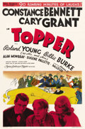"Movie Posters:Comedy, Topper (MGM, 1937). One Sheet (27"" X 41""). Style D. Cary Grant andConstance Bennett star as two ghosts out to do one good d..."