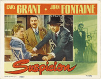 "Suspicion (RKO, 1941). Lobby Card (11"" X 14""). Presented in this lot is a marvelous portrait shot of all three..."