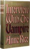Books:First Editions, Anne Rice: Interview with the Vampire Review Copy. (NewYork: Alfred A. Knopf, 1976), first edition, 372 pages, blac...